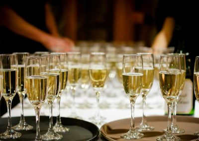 wedding champagne service at chef joes catering